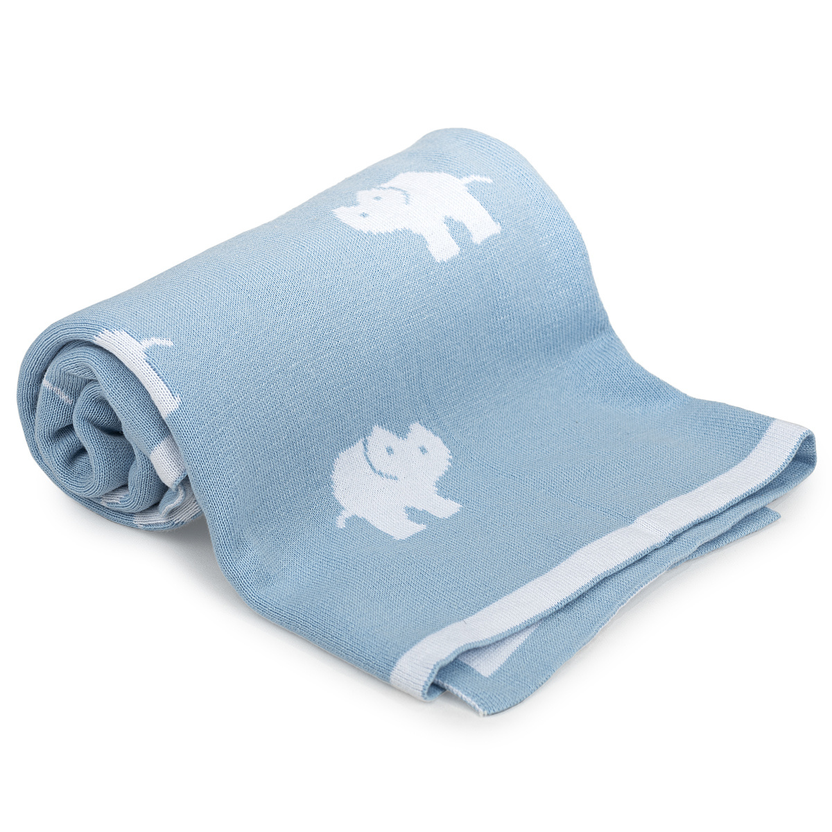 4home Detská bavlnená deka Slony, 70 x 90 cm