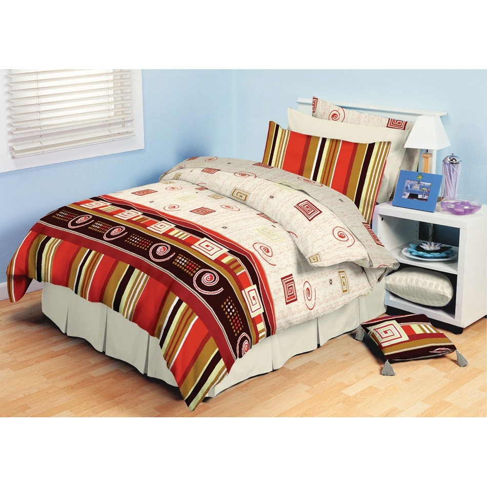 TipTrade bavlna obliečky Agnes Červené 140x200 70x90, 140 x 200 cm, 70 x 90 cm