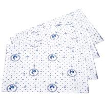 Nakrycie stołowe Country grochy niebieskie, 33 x 45 cm, zestaw 4 szt.