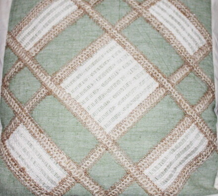 Bavlněný povlak na polštářek, zelená
