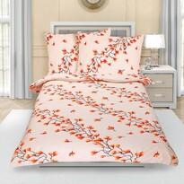Őszi cserje krepp ágynemű, 140 x 200 cm, 70 x 90 cm