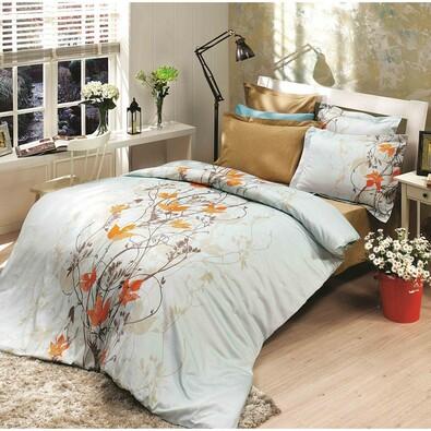 Bavlněné povlečení Giselle oranžová, 140 x 220 cm, 70 x 90 cm