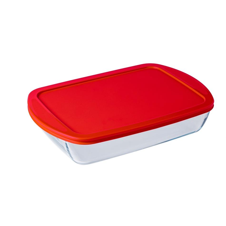 Ocuisine Téglalap alakú sütőtál műanyag fedéllel 40 x 27 x 7 cm