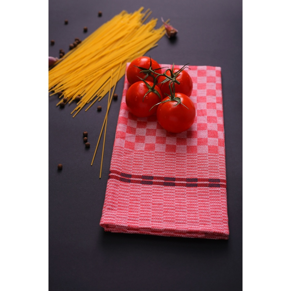 Produktové foto DecoKing Kuchyňská utěrka Louie červená, 50 x 70 cm, sada 3 ks