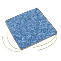 Sedák Adela hladký Kytička modrá, 38 x 38 cm