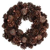 Wieniec dekoracyjny Mairo brązowy, śr. 34 cm