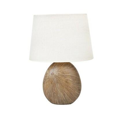 Stolní lampa Radius, světle hnědá, 57 cm
