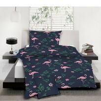 Pościel bawełniana Flamingo, 140 x 200 cm, 70 x 90 cm, 40 x 40 cm