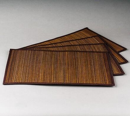 Prostírání Pampová tráva hnědá, 30 x 45 cm, sada 4 ks