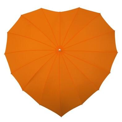 Dámský holový deštník srdce Heart oranžová