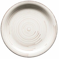 Mäser Keramický mělký talíř Bel Tempo 27 cm, béžová