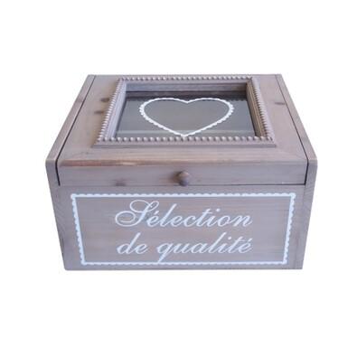 Dřevěná šperkovnice s přihrádkami Selection