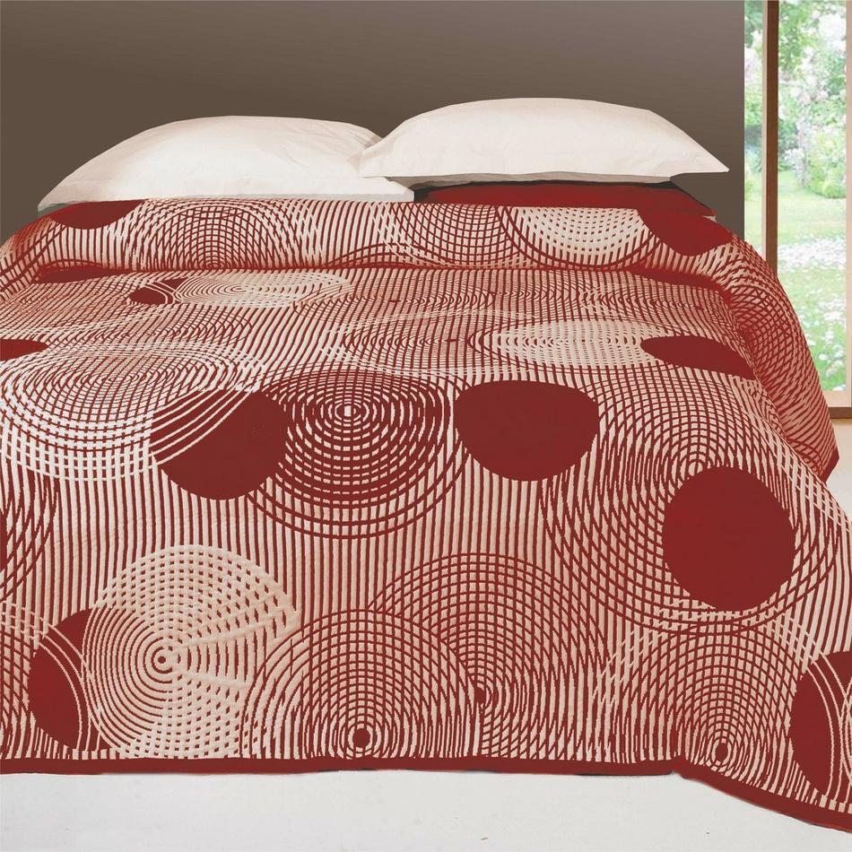 Forbyt Přehoz na postel Scorpio bordó, 240 x 260 cm