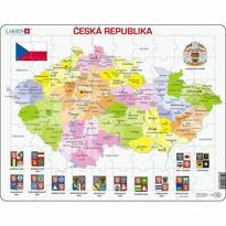 Larsen Puzzle Mapa České republiky, 70 dílků