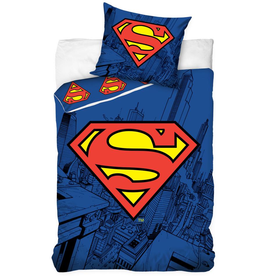 Tip Trade Detské bavlnené obliečky Superman, 140 x 200 cm, 70 x 80 cm