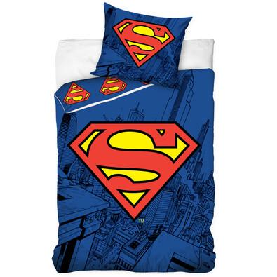 Dětské bavlněné povlečení Superman, 140 x 200 cm, 70 x 80 cm