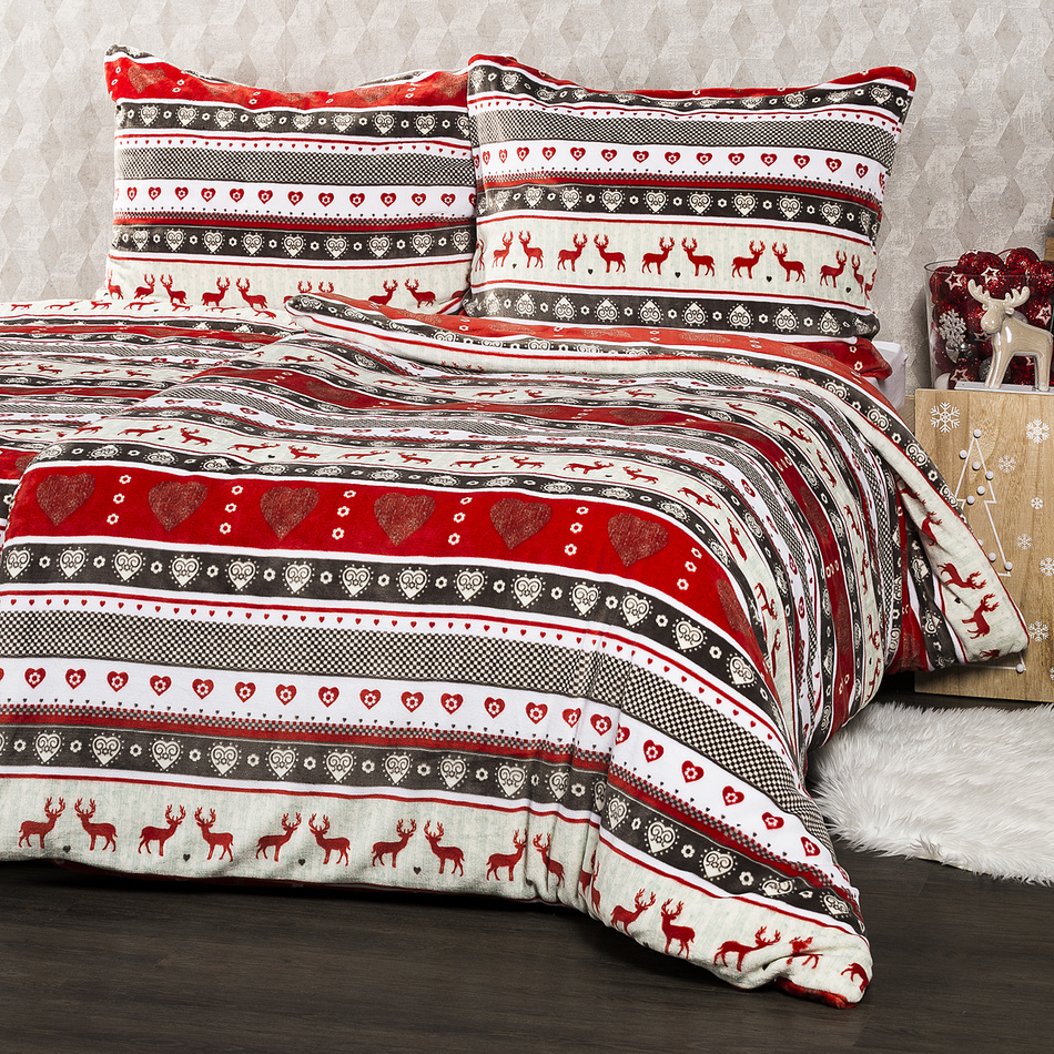 4Home Vánoční povlečení mikroflanel Winter, 140 x 200 cm, 70 x 90 cm, 140 x 200 cm, 70 x 90 cm
