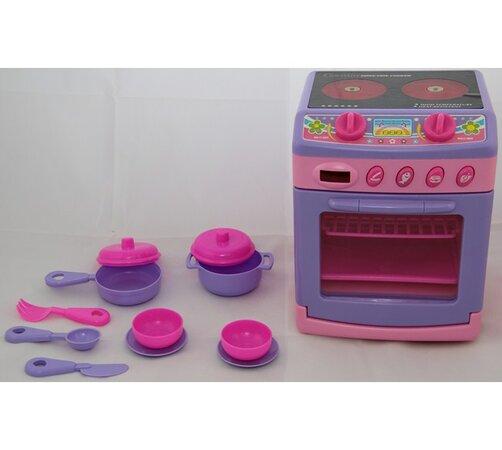 Sporák s vařičem pro děti, fialová