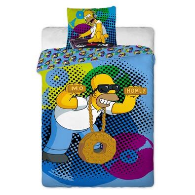 Dětské bavlněné povlečení The Simpsons Homer DJ, 140 x 200 cm, 70 x 90 cm