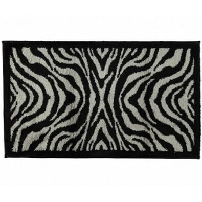 Cawö Frottier koupelnová předložka Zebra černá, 60 x 100 cm