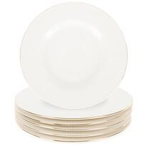 Altom Urban desszertes tányér készlet, 20 cm, 6 db, fehér