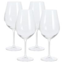 4-dielna sada pohárov na víno, 850 ml