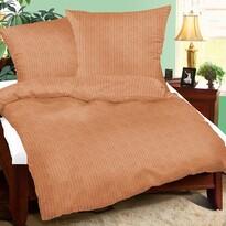 Lenjerie pat 1 pers. UNI maro, creponată, 140 x 200 cm, 70 x 90 cm