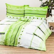 Krepové povlečení Maxim green, 140 x 220 cm, 70 x 90 cm