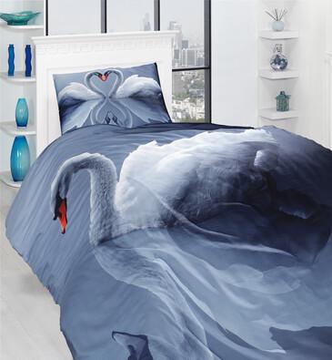 Povlečení Swan 3D, 140 x 200 cm, 70 x 90 cm
