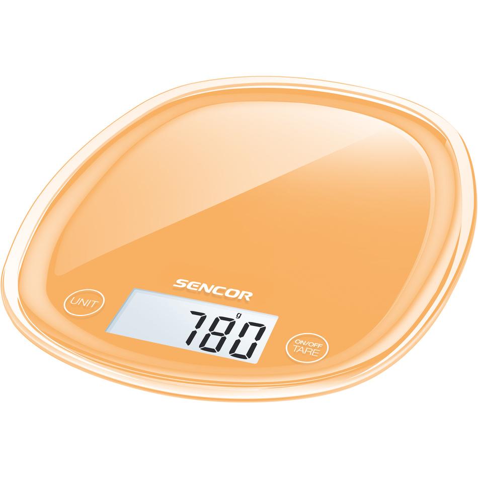 Fotografie Sencor SKS 33OR kuchyňská váha, oranžová