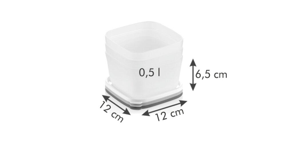 Tescoma PURITY 3-częściowy zestaw pojemników dozamrażarki 0,5 l