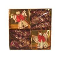 Set decorațiuni din paie Figurine 6 cm, 8 buc.