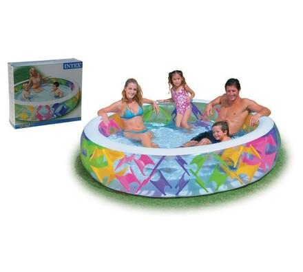 Nafukovací bazén průměr 229 cm vícebarevný