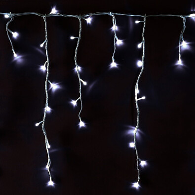 Sharks Svetelná vianočná reťaz Dážď, 240 LED, biela