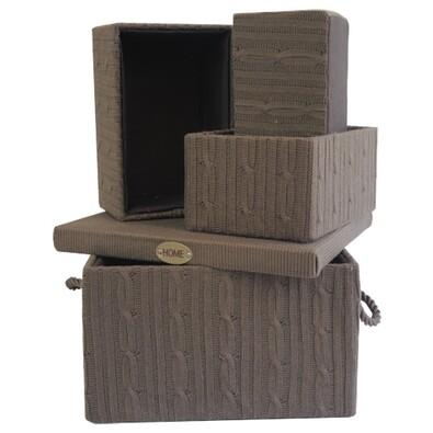Uložné krabice , 4 ks, hnědá