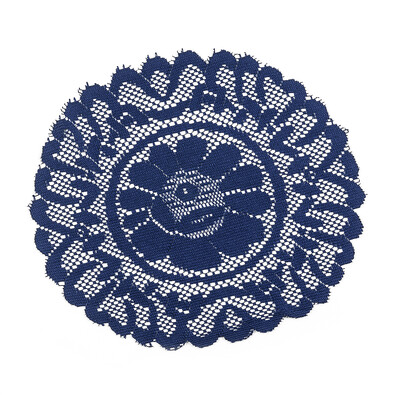 Dekorační podložka modrá, 35 cm, sada 2 ks