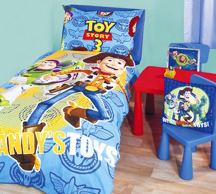 Bavlněné povlečení Toy Story, 140 x 200 cm, 70 x 90 cm