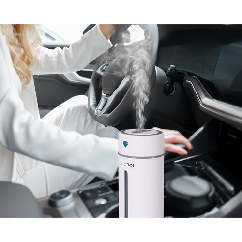 Sixtol Diamond Car aromadiffúzor autóba, fehér, 250 ml