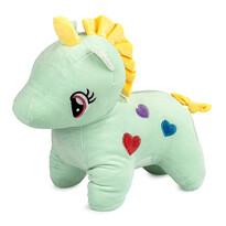 Jucărie din pluș Unicorn verde, 40 cm