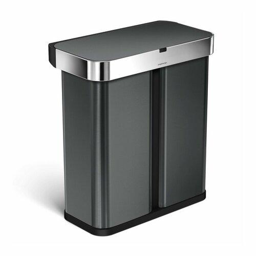 Simplehuman Bezdotykový koš s hlasovým ovládáním 58 l, černá
