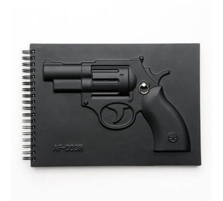 Vojenský blok - pistole, černá