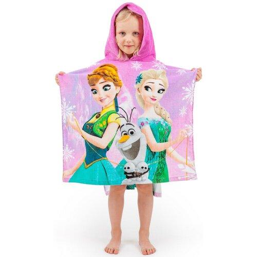 Poncho pentru copii Regatul de Gheaţă Frozen pink 2017, 60 x 120 cm