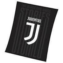 Koc Juventus czarny, 150 x 200 cm