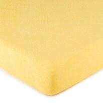 Cearșaf pat 4Home, din bumbac, galben
