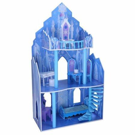 Ecotoys Domeček pro panenky Disney zámek Ledové království, 110 x 62 x 29 cm