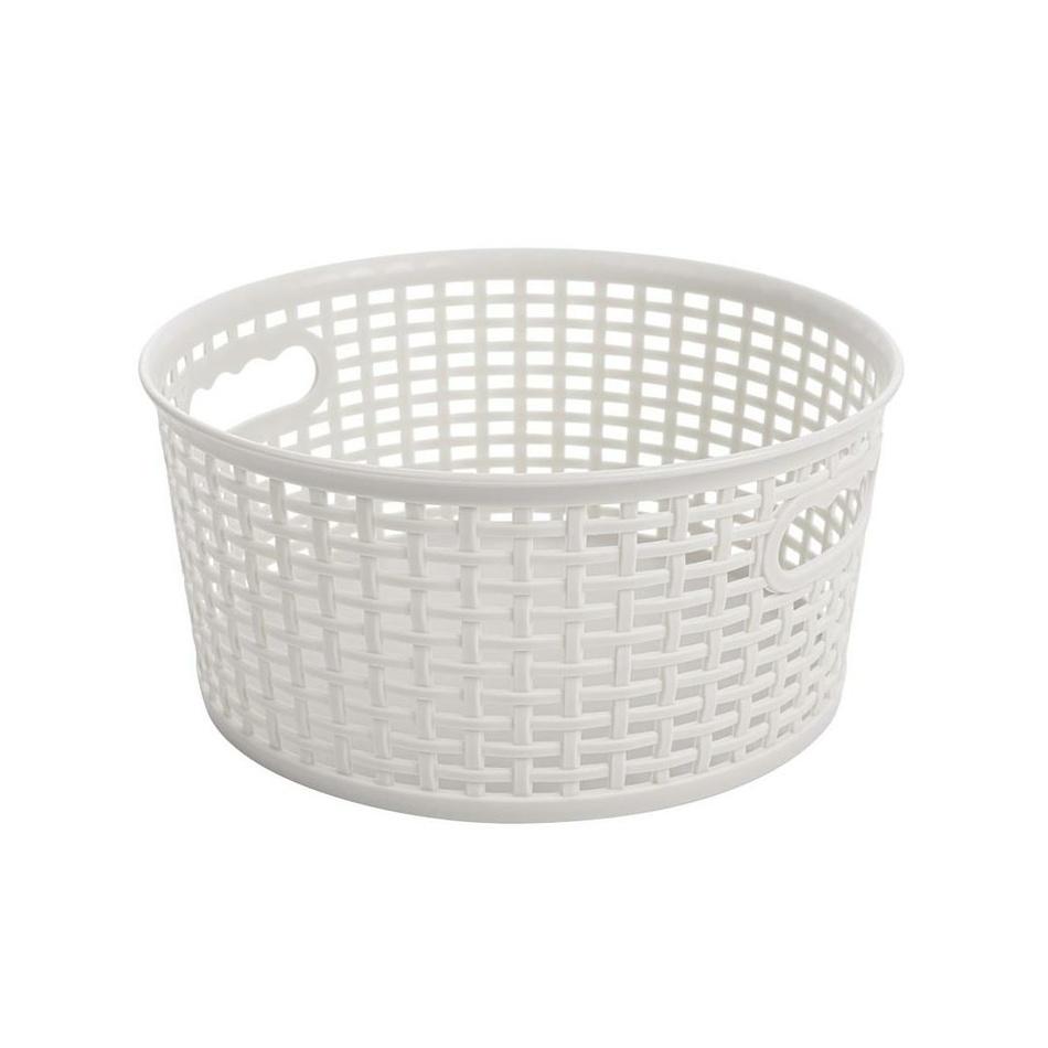 Okrúhly košík RATTAN CLASSIC 4,5 l, béžová