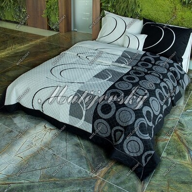 Matějovský přehoz na postel Royal black, 220 x 240 cm