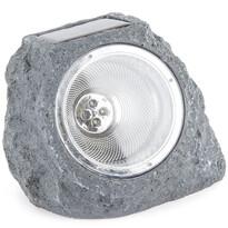 Koopman Venkovní solární svítidlo Stone light tmavě šedá, 4 LED