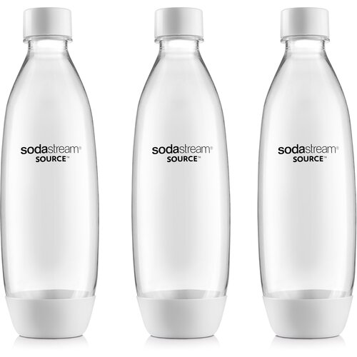 SodaStream Fľaša Fuse 3Pack 1 l, biela