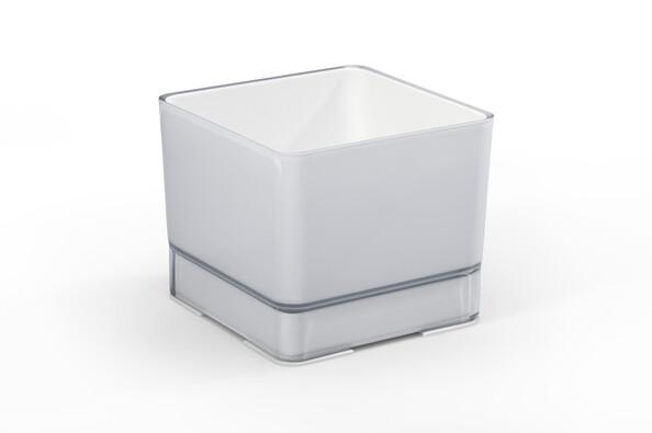 Plastový květináč Cube 120 sv. šedá